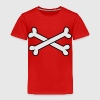 Red cool crossbones ( maybe Pirate cross Bones) Toddler Shirts - Toddler Premium T-Shirt