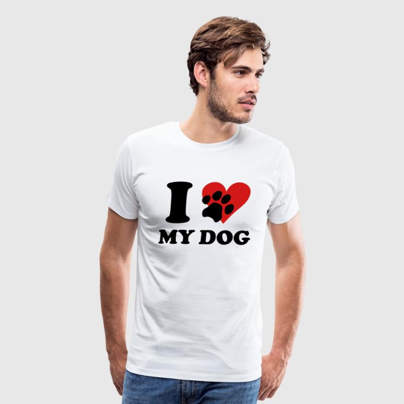 White I love my DOG T-Shirts - Men's Premium T-Shirt