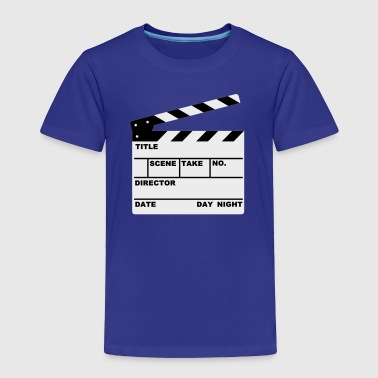 Turquoise clapperboard (writable flex) Kids' Shirt - Toddler Premium T-Shirt