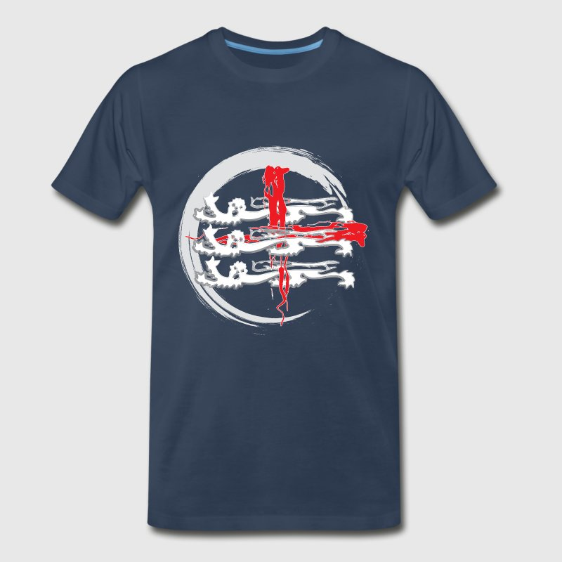 Navy three lions T-Shirts - Men's Premium T-Shirt