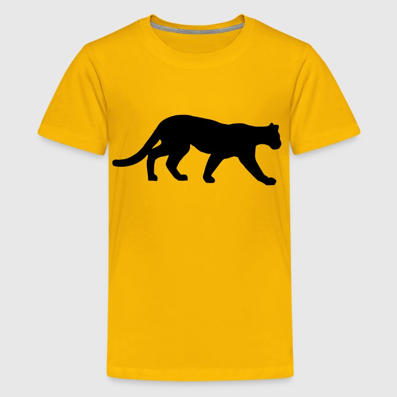 Yellow Panther - Cougar Kids' Shirts - Kids' Premium T-Shirt