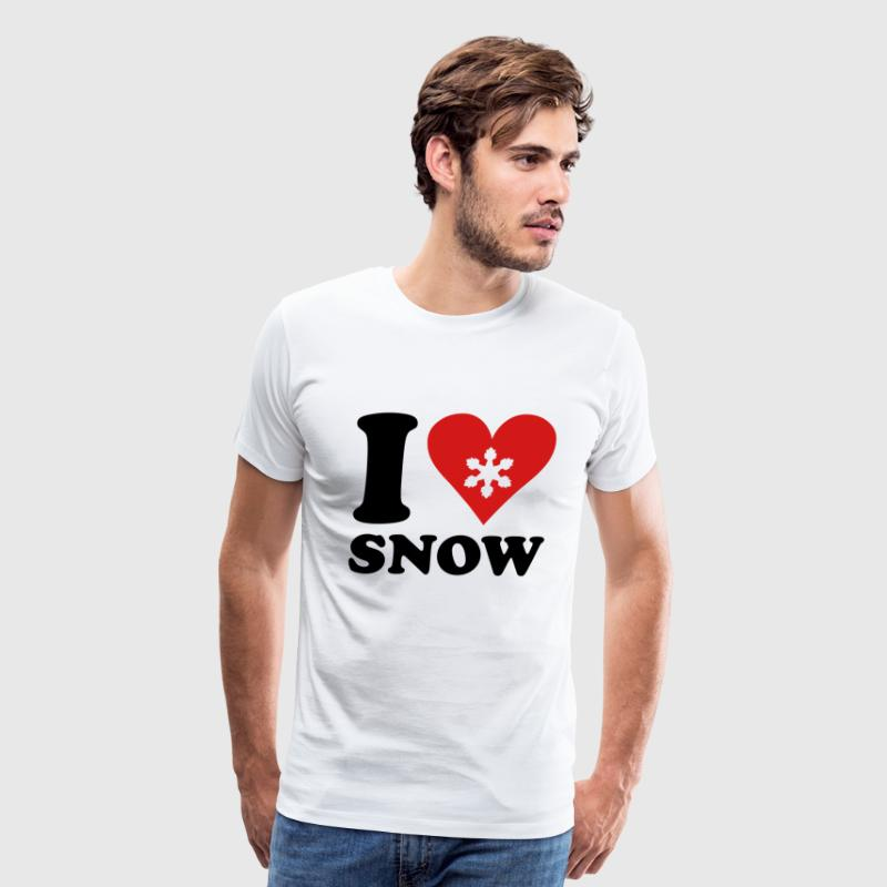 i love snow T-Shirts - Men's Premium T-Shirt