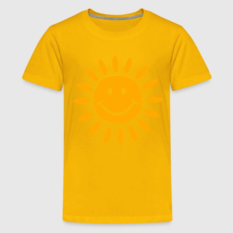 Sun t shirt spreadshirt for Yellow t shirt for kids