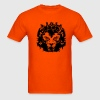 Orange The lion's head with crown T-Shirts - Men's T-Shirt