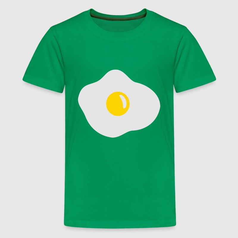 Kelly green Fried egg Kids' Shirts - Kids' Premium T-Shirt