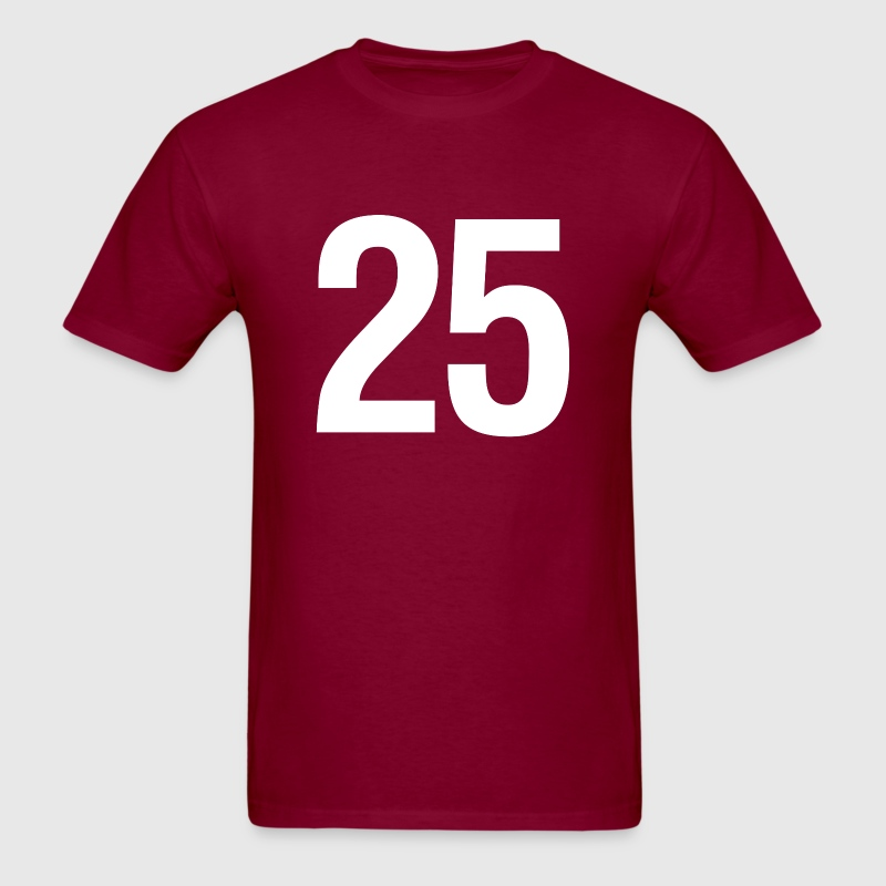helvetica number 25 T-Shirts - Men's T-Shirt