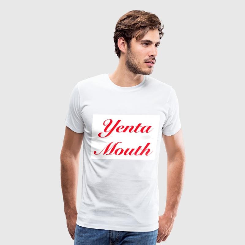 White Yenta Mouth T-Shirts - Men's Premium T-Shirt