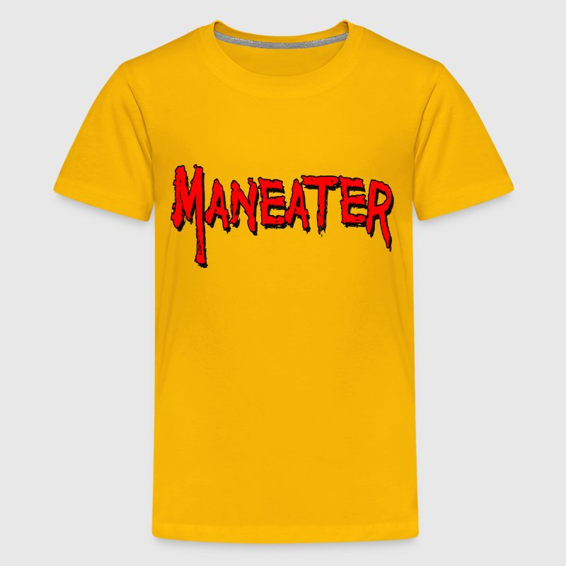 Yellow Maneater Kids' Shirts - Kids' Premium T-Shirt