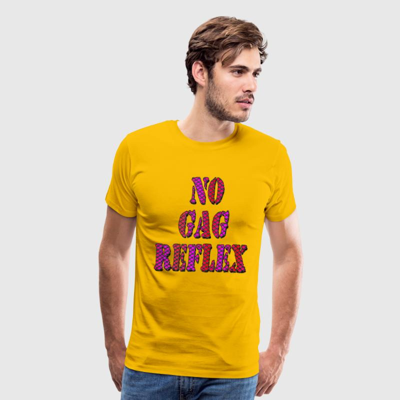 Yellow No Gag Reflex T-Shirts - Men's Premium T-Shirt