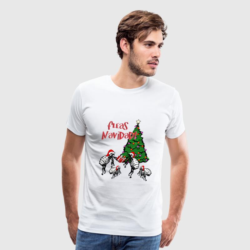 Fleas Navidad - fleas with Santa Hats - Men's Premium T-Shirt