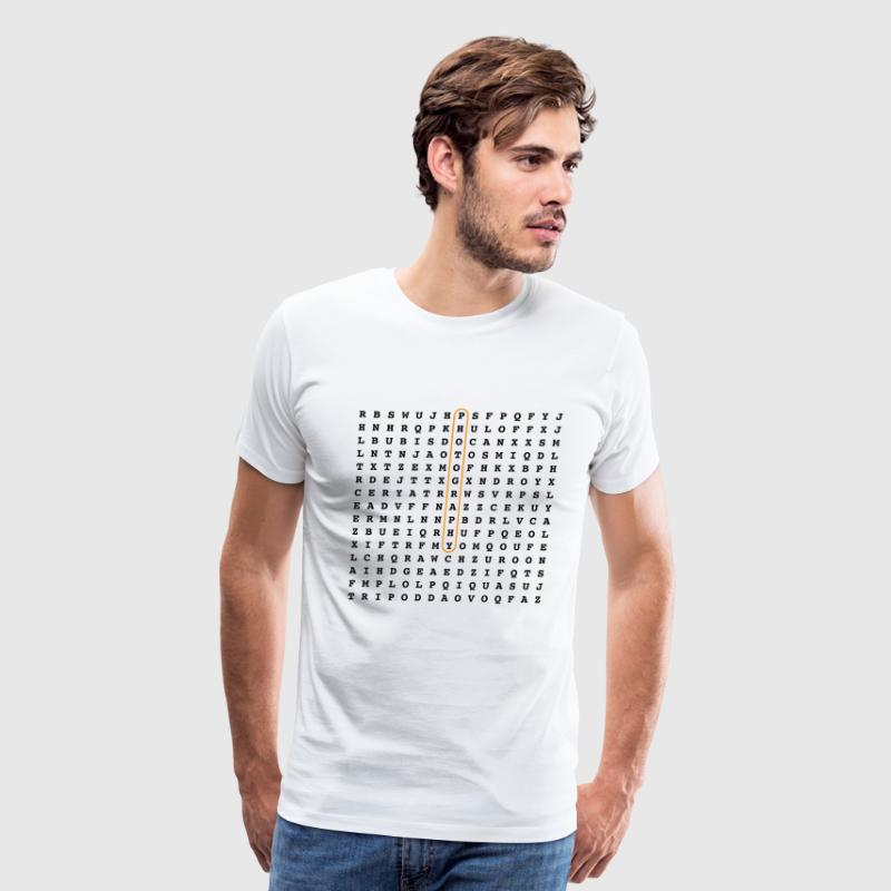 Photographer Word Search Puzzle - Men's Premium T-Shirt