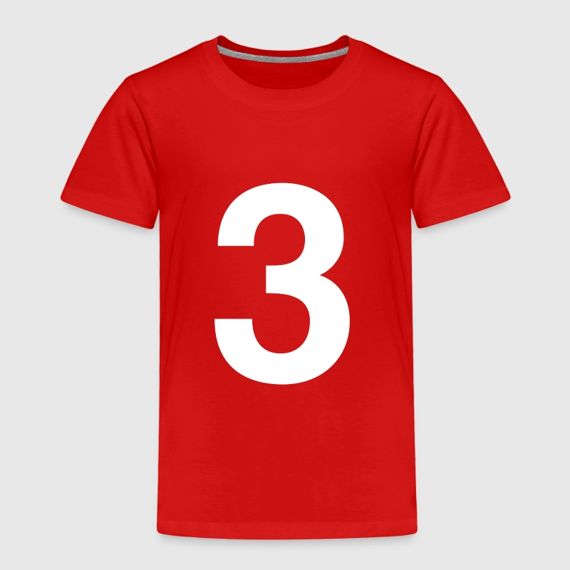 helvetica number 3 Toddler Shirts - Toddler Premium T-Shirt
