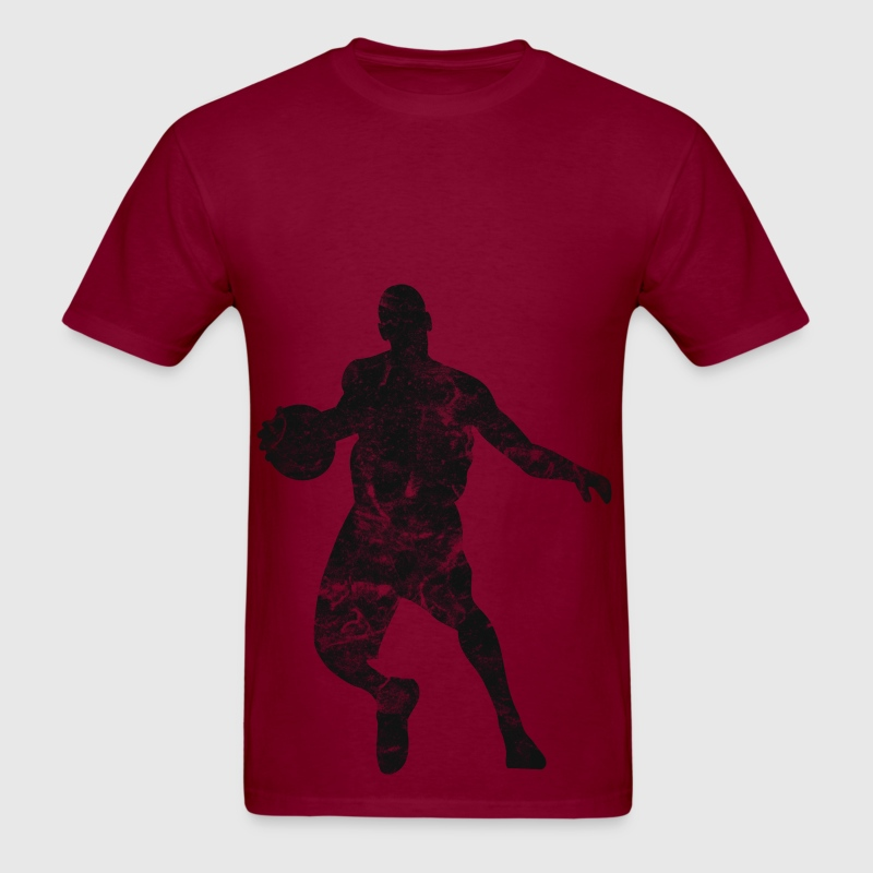 Basketball player vintage look retro t shirt spreadshirt for Retro basketball t shirts