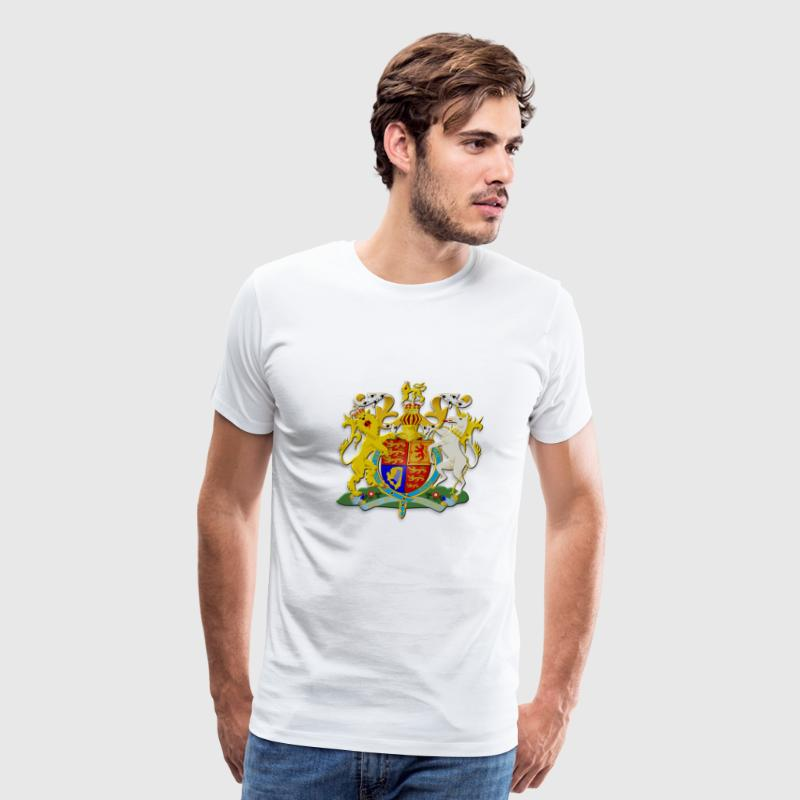 UK Royal Coat of Arms - Men's Premium T-Shirt
