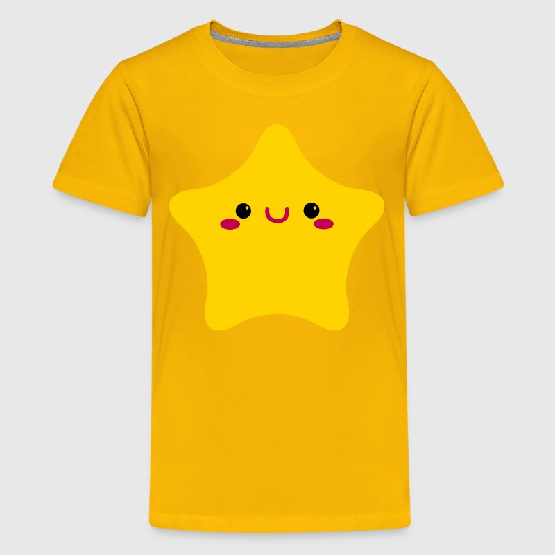 kawaii face on a rounded star cute! Kids' Shirts - Kids' Premium T-Shirt