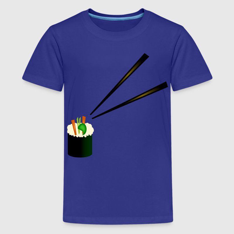 Cute Sushi Roll With Fancy Chopsticks--DIGITAL DIRECT PRINT Kids' Shirts - Kids' Premium T-Shirt