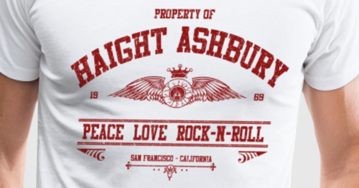 Property of haight ashbury t shirt spreadshirt for Property of shirt designs