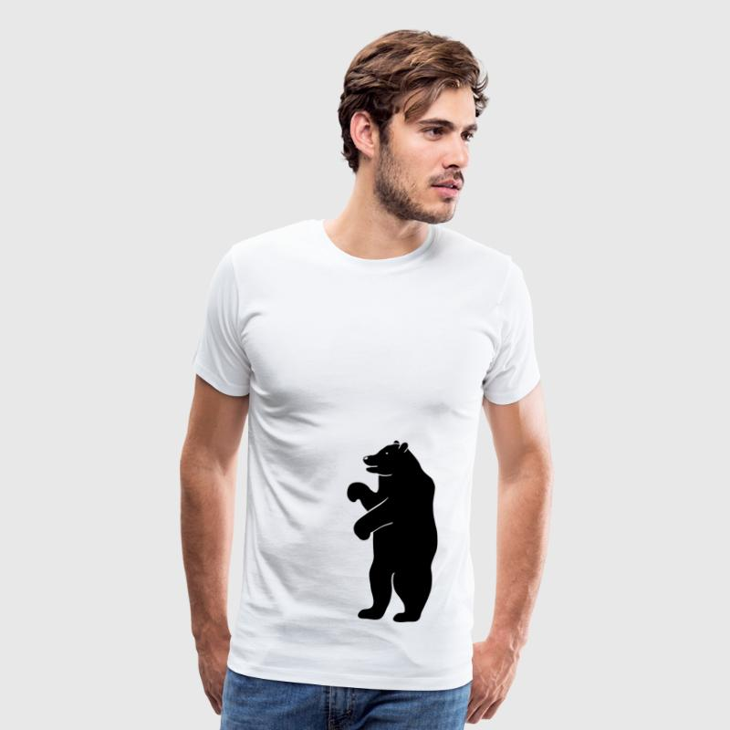 bear beer berlin  strong hunter hunting wilderness grizzly predator T-Shirts - Men's Premium T-Shirt