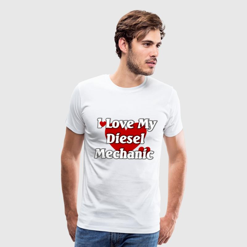 I love my Diesel  mechanic - Men's Premium T-Shirt