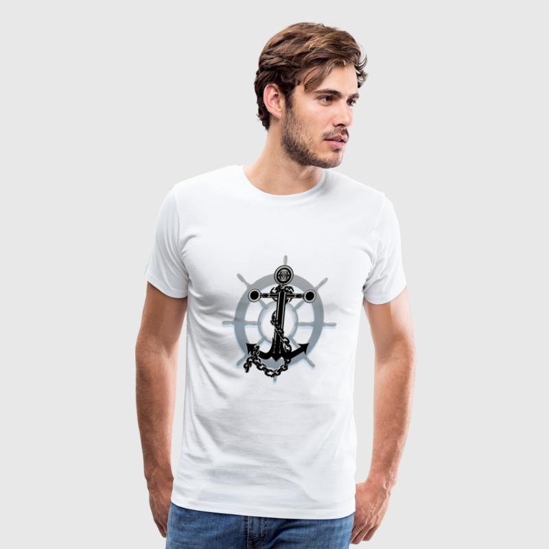 Anchor and Ship wheel - Men's Premium T-Shirt