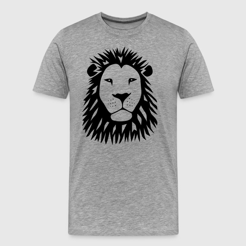 lion tiger cat king animal kingdom africa predator simba strong hunter safari wild wildcat bobcat panther cougar T-Shirts - Men's Premium T-Shirt