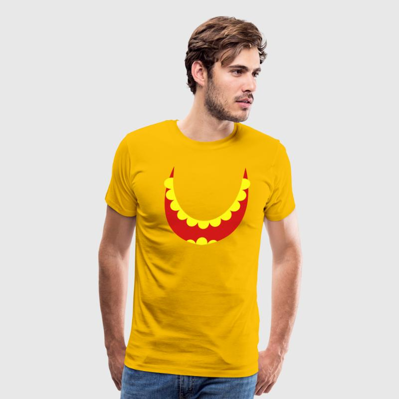 gaping wide smiling teeth and open mouth T-Shirts - Men's Premium T-Shirt