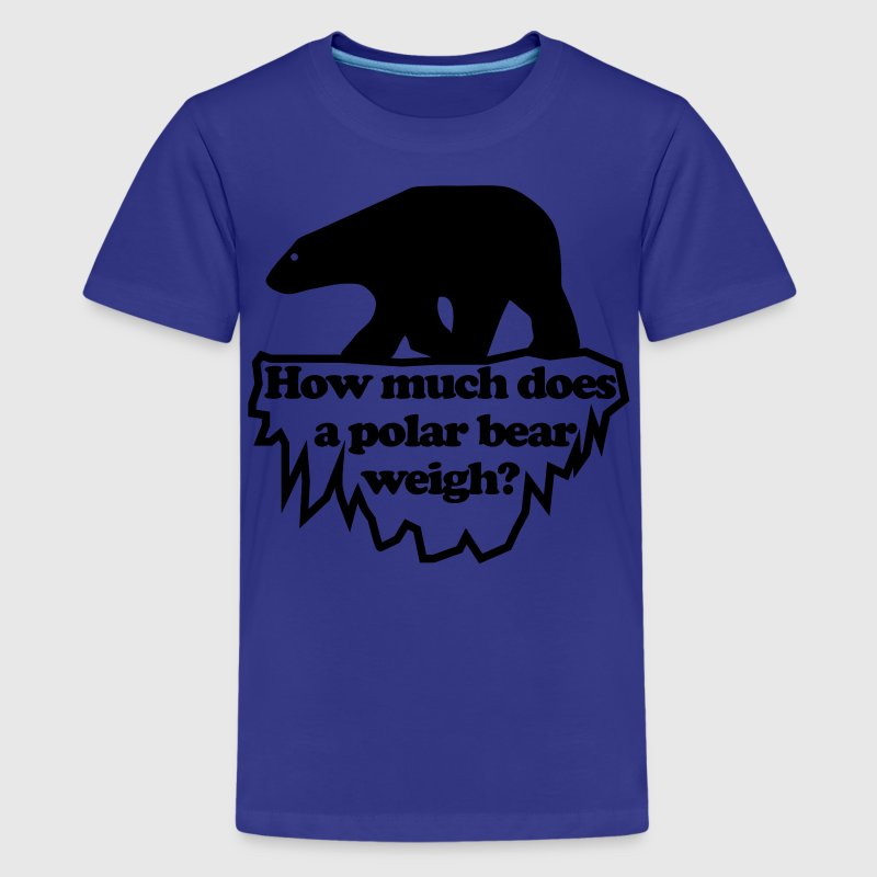 How much does a polar bear weigh? Kids' Shirts - Kids' Premium T-Shirt