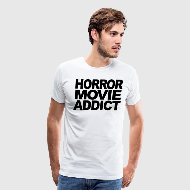 Horror Movie Addict t-shirt T-Shirts - Men's Premium T-Shirt
