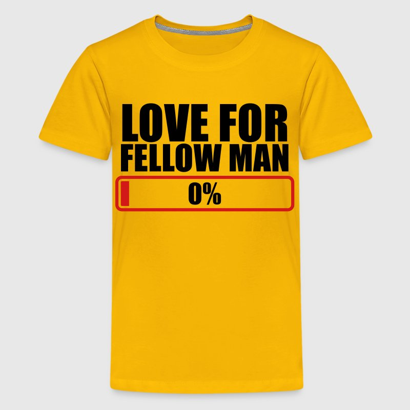 LOVE FOR FELLOW MAN 0% progress bar Kids' Shirts - Kids' Premium T-Shirt