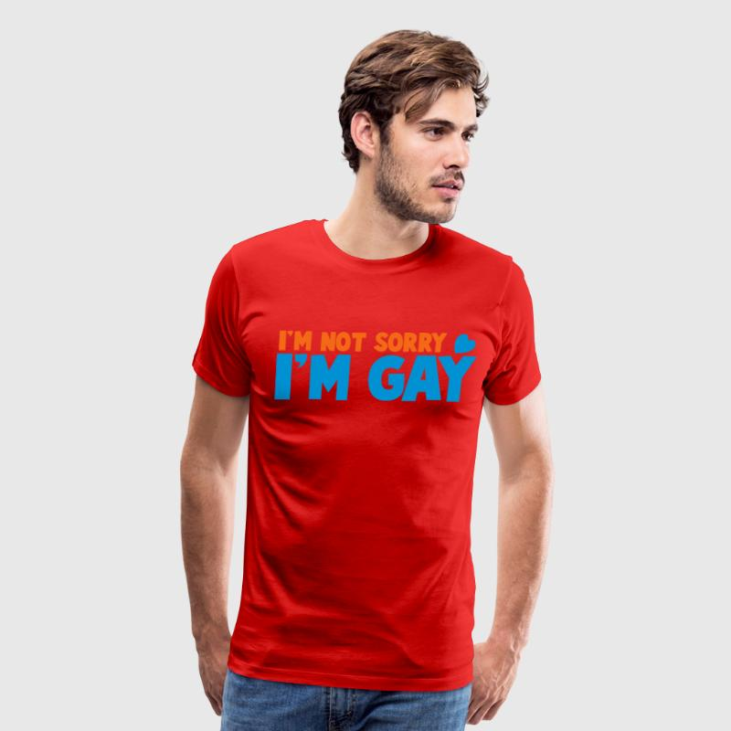 i'm not sorry i'm gay with a love heart T-Shirts - Men's Premium T-Shirt