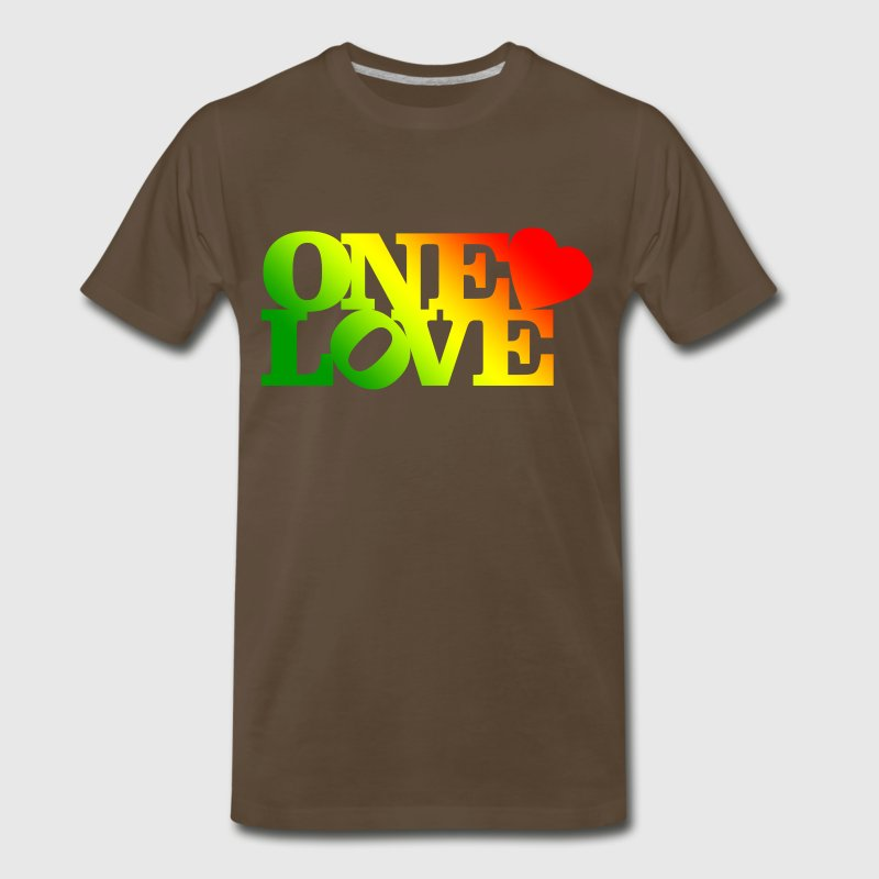 One Love Rasta T-Shirts - Men's Premium T-Shirt