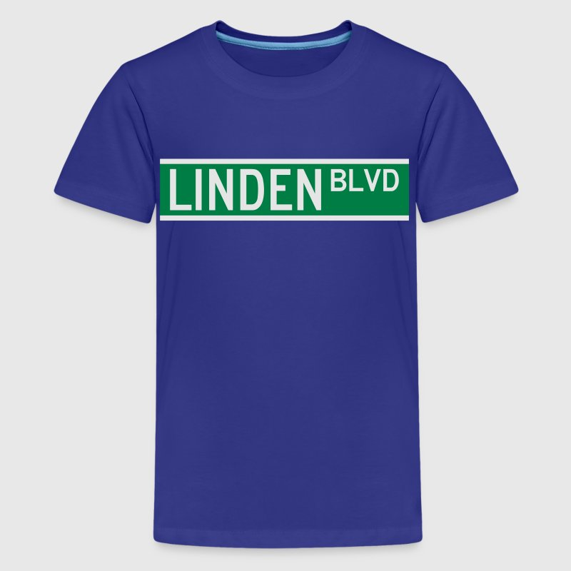 LINDEN BLVD SIGN Kids' Shirts - Kids' Premium T-Shirt