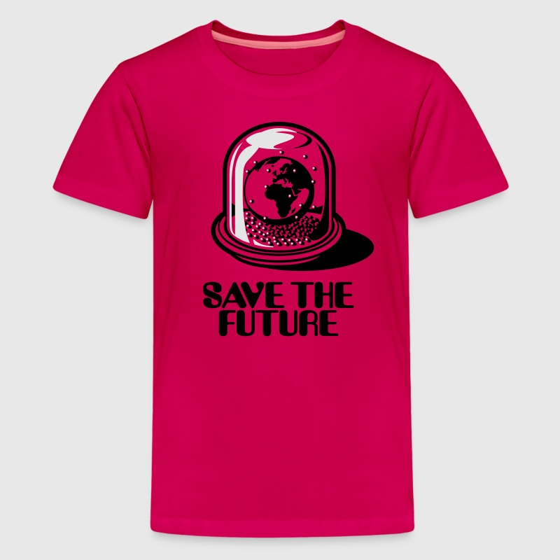 World Snow Globe - Save the future 2c Kids' Shirts - Kids' Premium T-Shirt