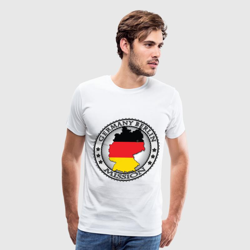 Germany Berlin LDS Mission Flag - Called to Serve - Men's Premium T-Shirt