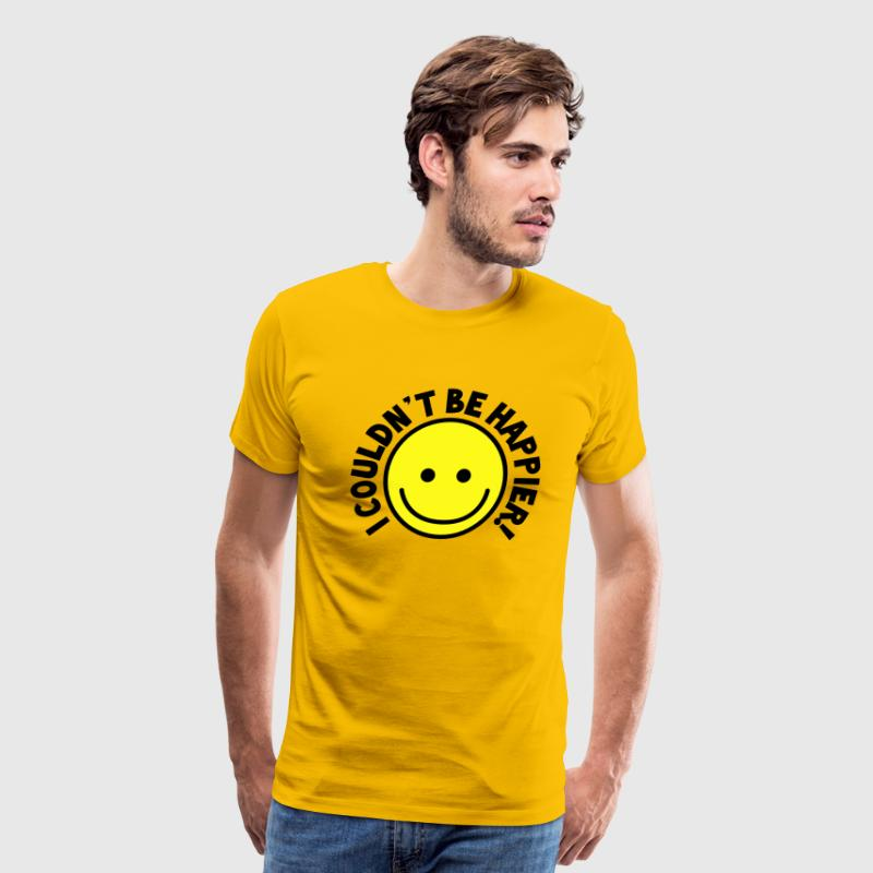 I couldn't be HAPPIER! with yellow smiley T-Shirts - Men's Premium T-Shirt