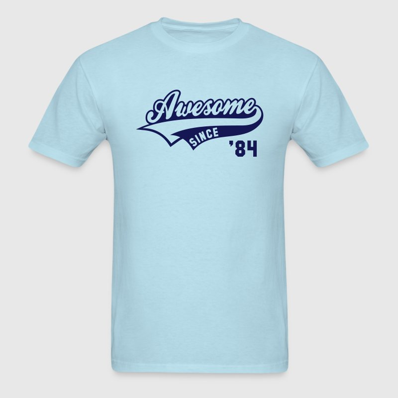Awesome SINCE 84 Birthday Anniversary T-Shirt NS - Men's T-Shirt