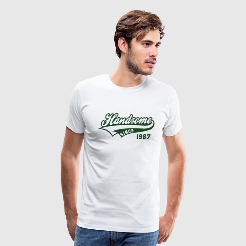 Handsome since 1987 Birthday Anniversary Shirt NW - Men's Premium T-Shirt