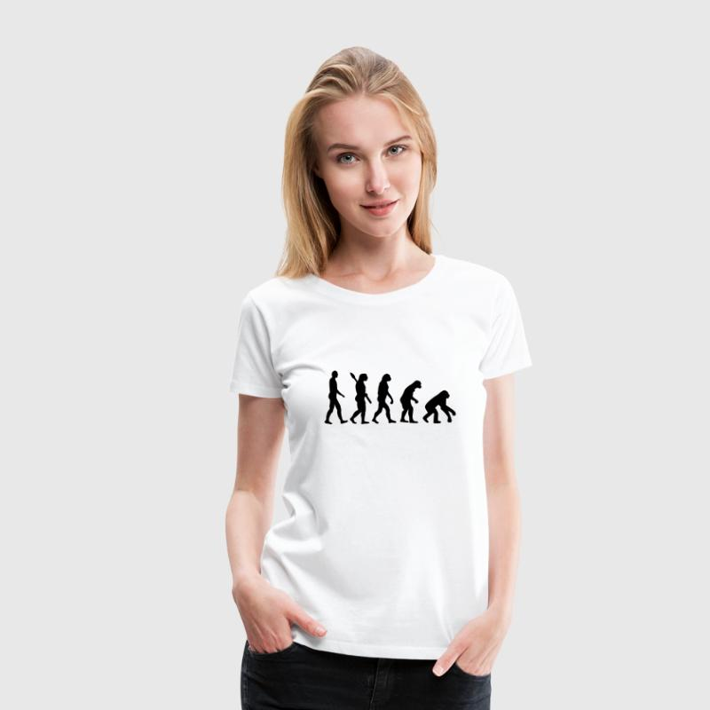 Evolution backwards Women's T-Shirts - Women's Premium T-Shirt