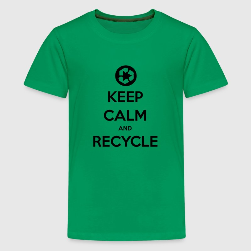 Keep Calm & Recycle Kid's T - Kids' Premium T-Shirt