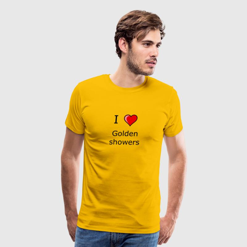 I LOVE GOLDEN SHOWERS SHIRT KINKY SEX - Men's Premium T-Shirt