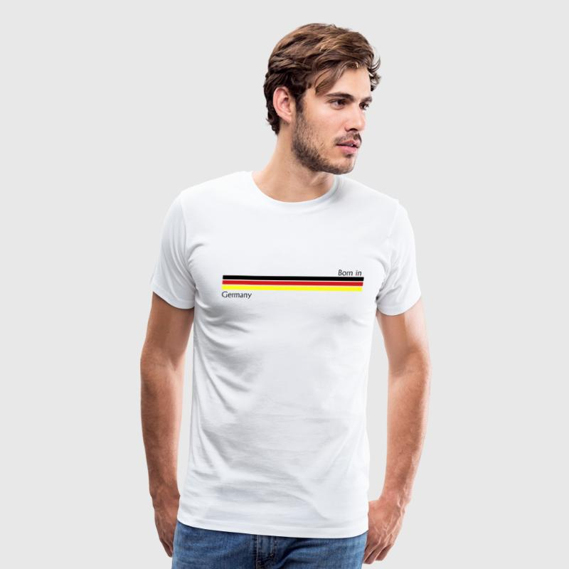 Born in Germany, birth, bayern, german, allemagne, deutschland, deutsch, deutscher, german flag, berlin, münchen,  - Men's Premium T-Shirt