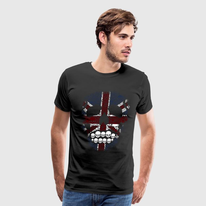 The British Skull Stencil Graphic desain T-Shirts - Men's Premium T-Shirt