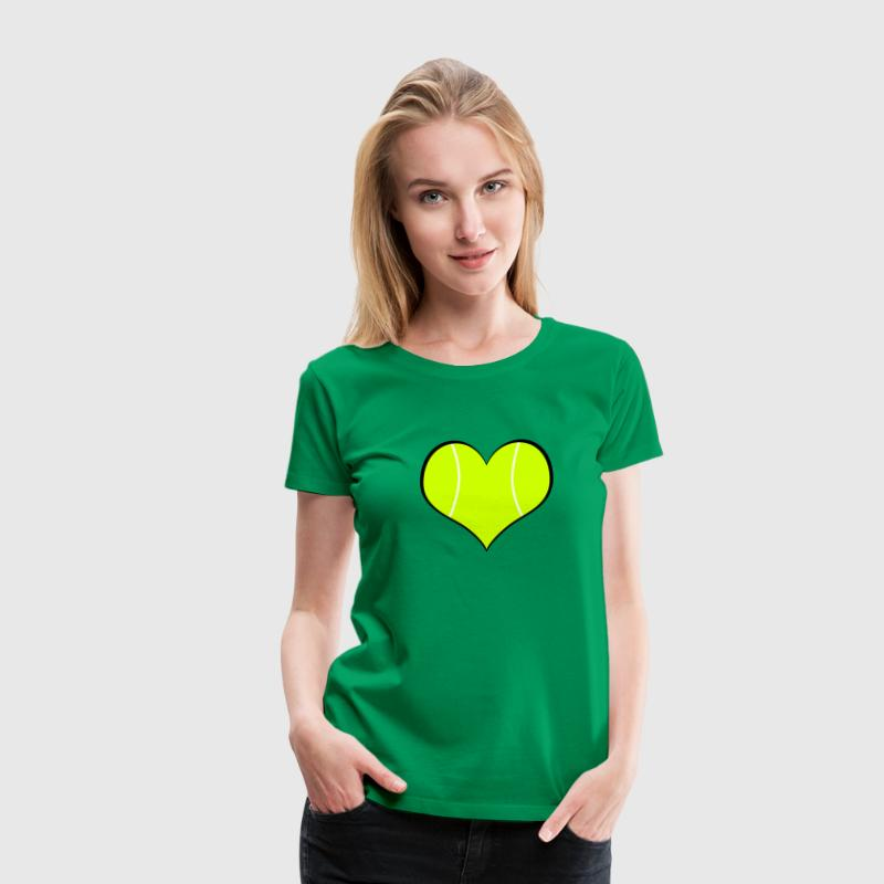 Women's Tennis Heart T-Shirt - Women's Premium T-Shirt