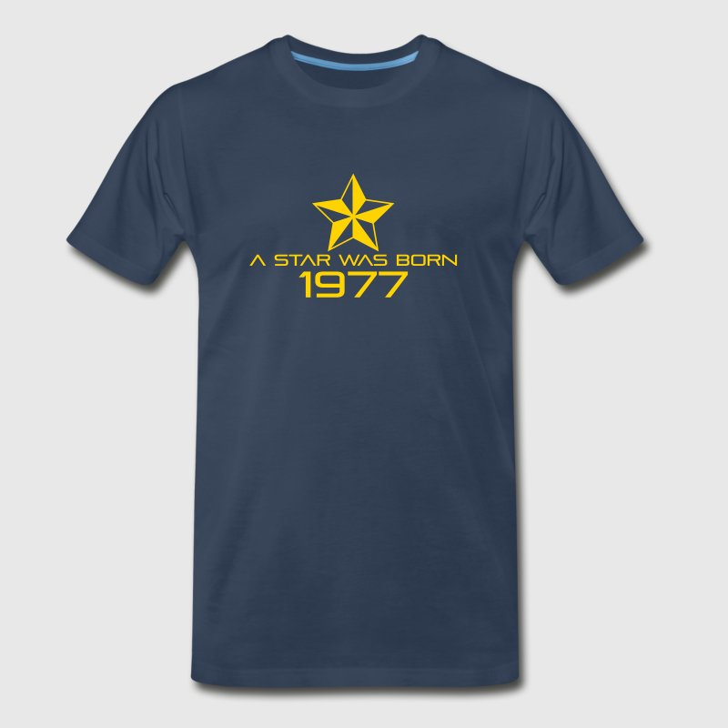 Birthday-Shirt - A Star was born 1977 T-Shirts - Men's Premium T-Shirt