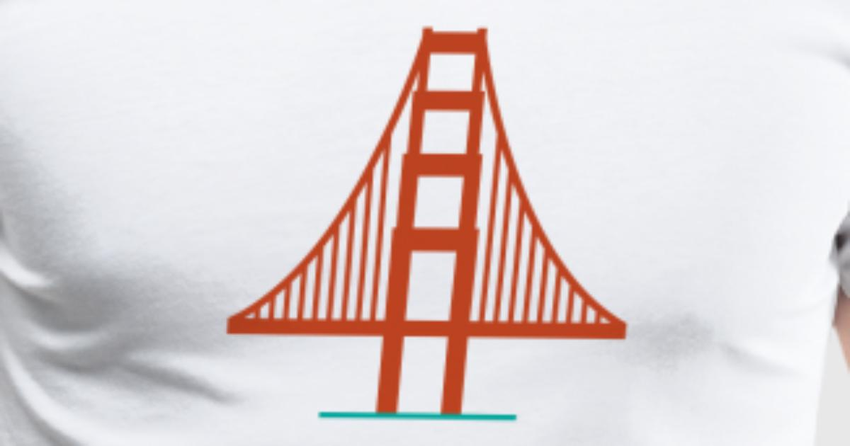 San Francisco Golden Gate Bridge Logo 2 T Shirt Spreadshirt