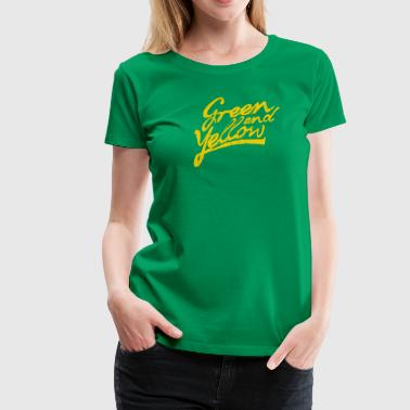 GREEN AND YELLOW Women's T-Shirts - Women's Premium T-Shirt