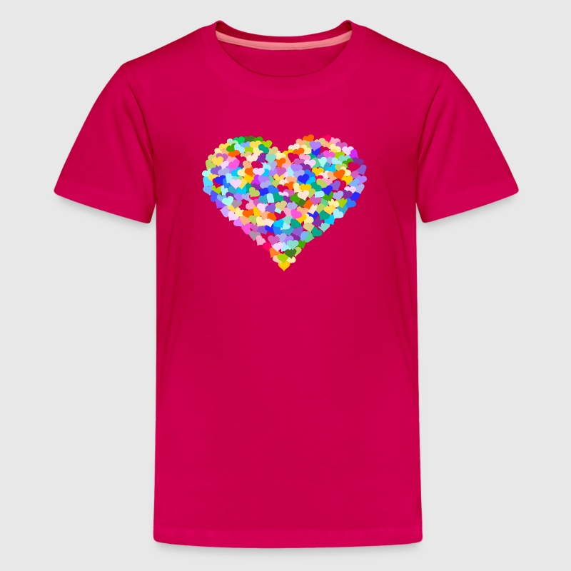 Rainbow Heart of hearts - Kids' Premium T-Shirt