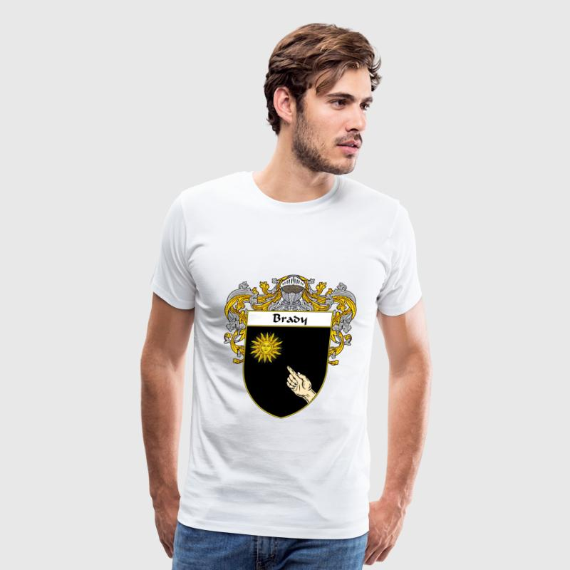 Brady Coat of Arms/Family Crest - Men's Premium T-Shirt