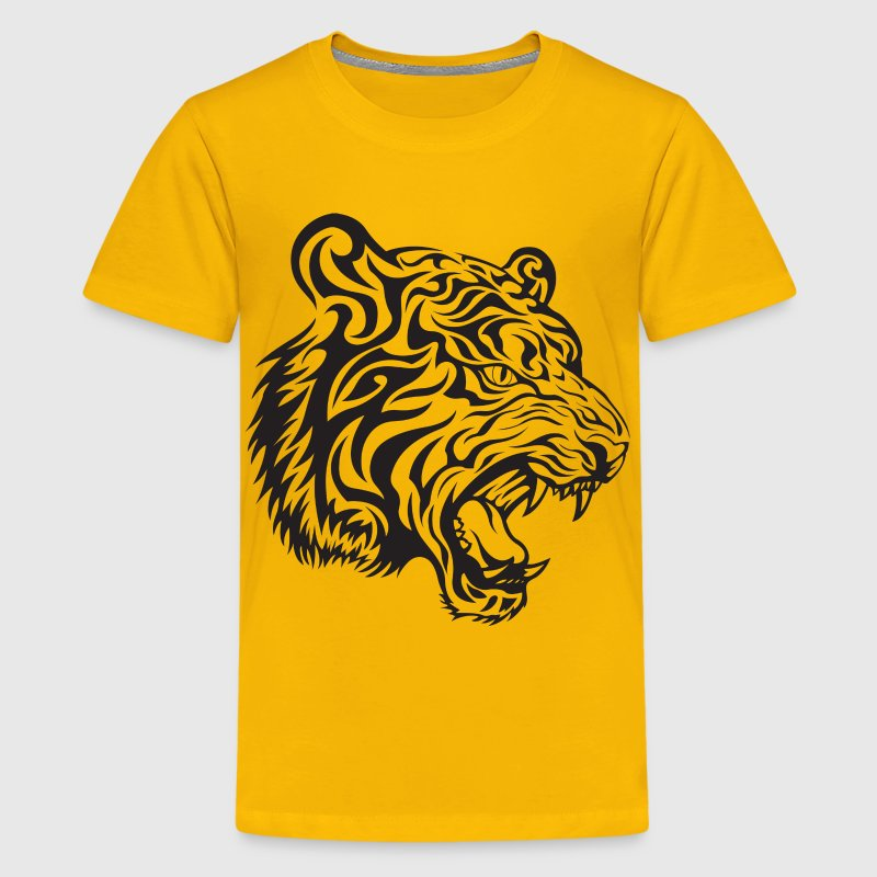 Tribal Tiger Kids' Shirts - Kids' Premium T-Shirt