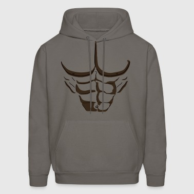 Fake Abs Black - Men's Hoodie